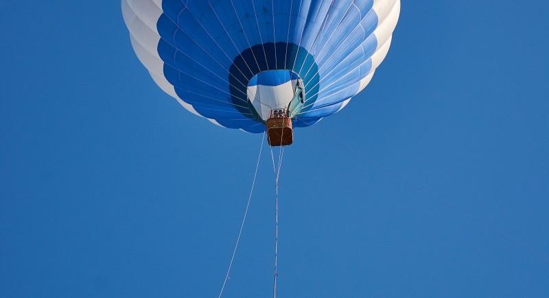 Бънджи скок от балон на летище Доброславци юни 2015.